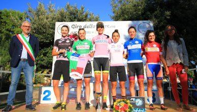 Tutte le maglie delle classifiche finali del Giro delle Marche in Rosa