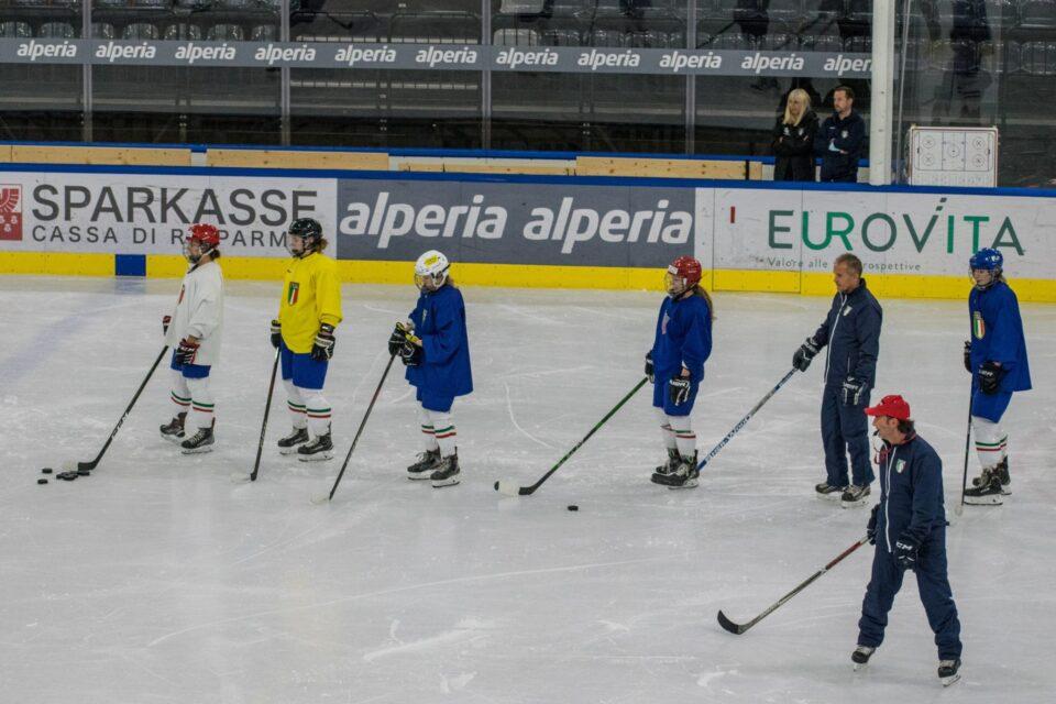 Ad Aosta si raduna la nazionale femminile di hockey su ghiaccio