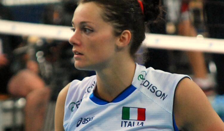 Serena Ortolani con la maglia della nazionale